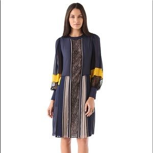 NEW BCBGMAXAZRIA RUNWAY KASSIA NAVY TUNIC DRESS